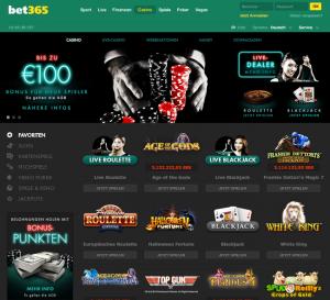 Bet365 casino website
