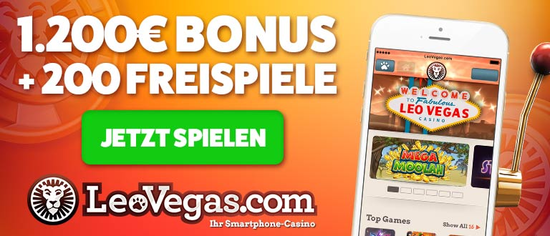 Leovegas Casino website