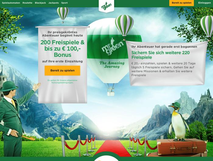 Mr Green Casino website