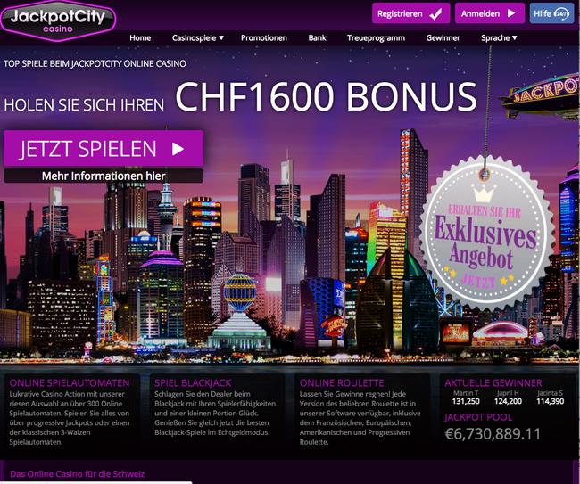 Jackpot City Casino Schweiz